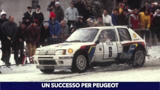 video Inverno 1985, sotto la neve al Rally di Montecarlo il trionfo è nel segno del Leone, con la mitica Peugeot 205 Turbo 16!