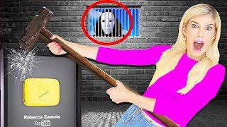 FOUND GAME MASTER Spying on ME with Secret Hidden Camera! (Destroying YouTube Gold Play Button)