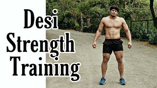 Desi Strength Training Without Equipments  Ft.  Wrestler Sunny Joon