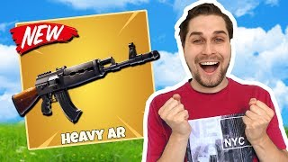 Nieuw wapen! De Heavy AR! 😱 - Fortnite Battle Royale (Nederlands)