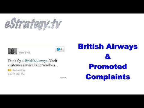 British Airways & Promoted Twitter Complaints