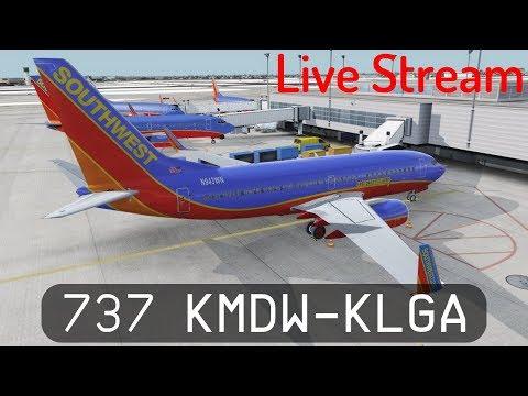 Prepar3d V4.1 - Southwest 737-700 - Midway to LaGuardia (KMDW-KLGA)