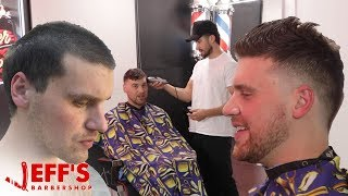 HAIRCUT TRANSFORMS MANS LIFE | Jeff's Barbershop ft. Nick Colletti