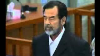 لحظة الحكم على صدام بالاعدام شنقا
