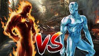 Human Torch VS Iceman   Who Wins?