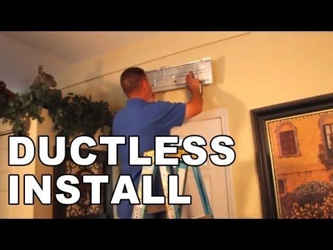 Installation Of A Ductless Air Conditioning System Youtube