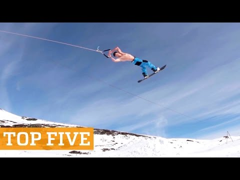 TOP FIVE: Summer Skiing, Wheelie Tricks & Freerunning | PEOPLE ARE AWESOME 2016