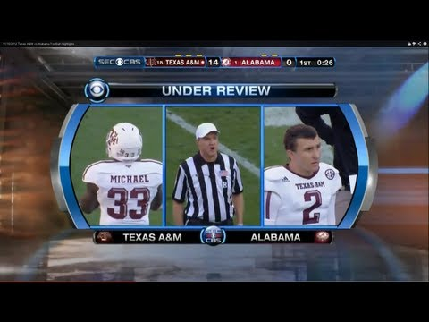 11/10/2012 Texas A&M vs Alabama Football Highlights