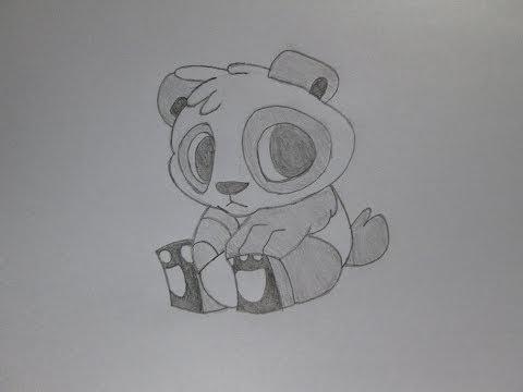 Cómo dibujar un oso panda