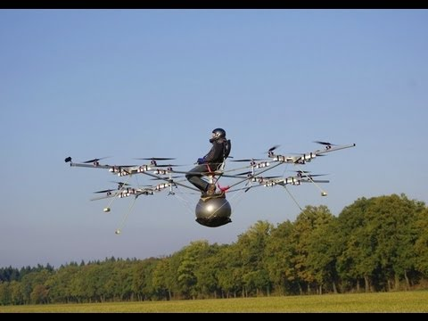 World s first manned flight with an electric multicopter