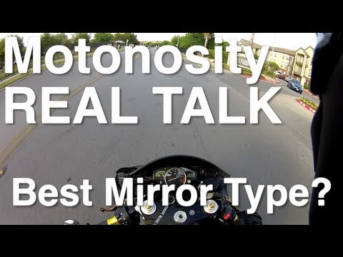 Motorcycle Bar End Mirrors vs Stock