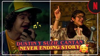 "Dustin y Suzie cantan ""Never Ending Story"" [Clip] 