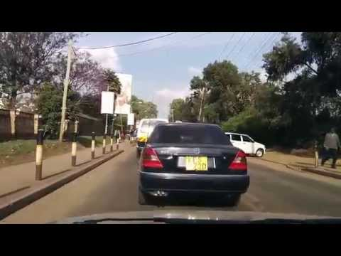 Driving to Nairobi inner city. This time in daylight.
