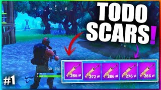 VICTORIA con TODO SCARS! Fortnite: Battle Royale MEJORES Momentos! - Infuser