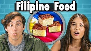 Teens Try Filipino Food | People Vs. Food  from REACT
