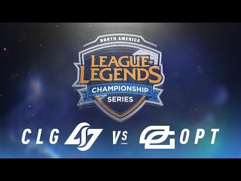 CLG vs. OPT - Week 9 Day 1   NA LCS Spring Split   Counter Logic Gaming vs. OpTic Gaming (2018)