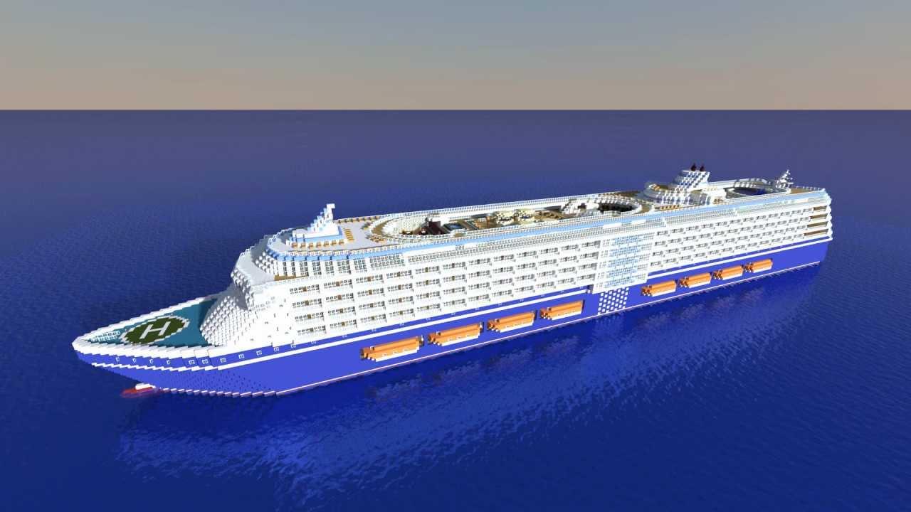 Minecraft - Huge Cruise Ship - YouTube