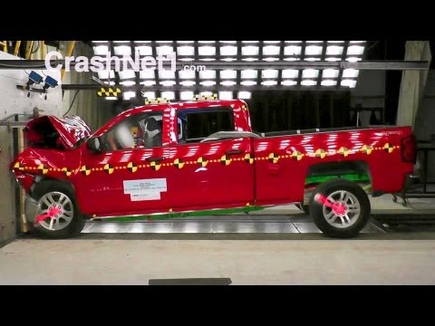 2014 Chevy Silverado 1500 / GMC Sierra 1500 (Crew Cab)   Frontal Crash Test by NHTSA   CrashNet1