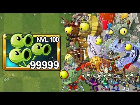 Plants Vs Zombies 2 Tripitidora Nivel 100 Vs Todos Los Zombots