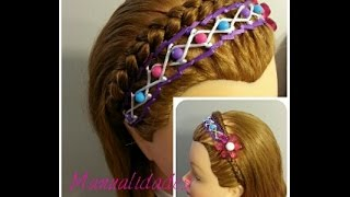 Encintado Con Perlas para Peinado de Niña - Headband for Girls with Ribbon and Pearls