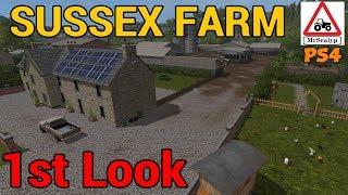 SUSSEX FARM, 1st Look Map Tour, Farming Simulator 17 PS4.