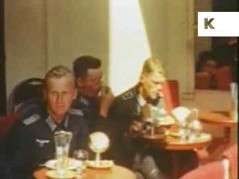 Nazi Soldiers in Paris Cafe - Rare Colour WWII Home Movies Shot By German Soldier