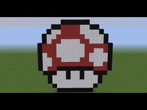Minecraft Pixelart Tutorial #5 Mario Pilz