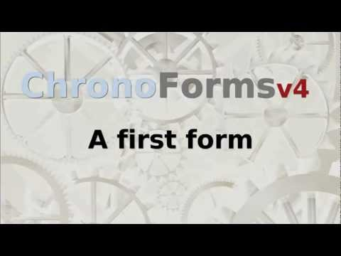 ChronoForms v4 : A first form