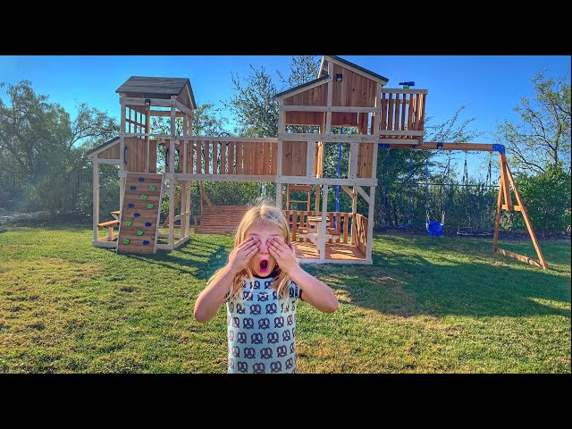Surprising Everleigh With Ultimate Backyard Makeover!!! thumbnail