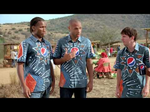 CHECK OUT PEPSI'S NEW 2010 FOOTBALL TV ADVERT FEATURING GLOBAL FOOTBALL ICONS AND A SPECIAL GUEST APPEARANCE FROM AKON World class players Lionel Messi, Thierry ...