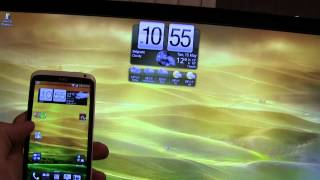 HTC One X wallpaper on PC with HTC clock widget