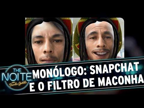 The Noite (25/04/16) - Monólogo: Sobre o Snapchat homenagear a Maconha