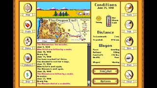 We did it but one died. :The Oregon Trail