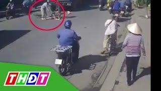 Qua đường bất cẩn, người phụ nữ đi xe đạp bị container cán | THDT