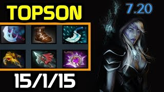 MID Drow vs Tinker - New ULTRA-FAST Farming Drow 7.20 - TOPSON Drow Ranger full gameplay