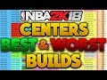 NBA 2K18 BEST AND WORST CENTER DUAL ARCHETYPE BUILDS! WITH BADGES BREAKDOWN! 💯🔥