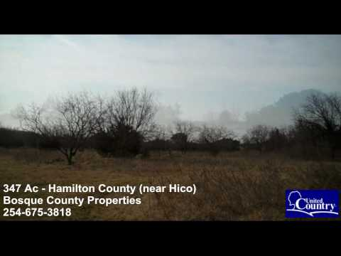 Bosque County Properties - 347 Acres - HUNTERS PARADISE!