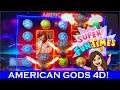 AMERICAN GODS - 4D SLOT MACHINE!  FUN NEW SLOT MACHINE IN DEADWOOD, SD