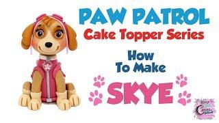 SKYE PAW PATROL Cake Topper! How To Make A Skye Cake Topper