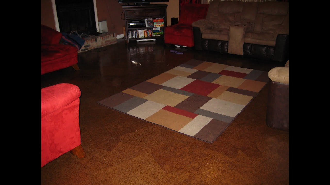 DIY - How to make your own brown paper bag floor - YouTube