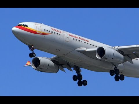 Hainan Airlines Airbus A330-200 Landing Seattle
