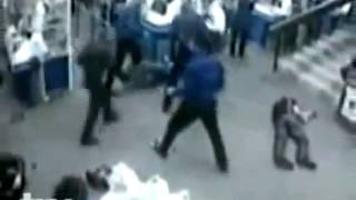 Raw Video - Russian Fight 4 vs 1 Security