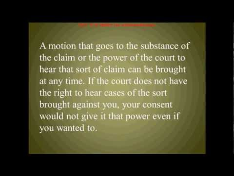 Motions to Dismiss in Debt Lawsuits with Debt Collectors (Pt. 1)