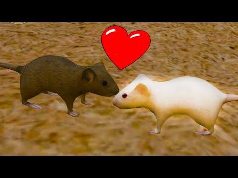СИМУЛЯТОР Маленькой МЫШИ #2 Влюбился в мышку, но напала кошка / Детский летсплей на пурумчата