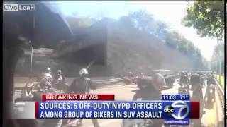 5 Off duty NYPD Officers Among Bikers over