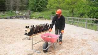 Truncator 6Pro making logs for firewood