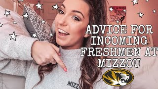 ADVICE FOR AN INCOMING FRESHMAN @ MIZZOU! | Sam Gabrick