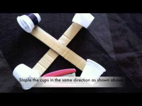 how to make an anemometer with cardboard