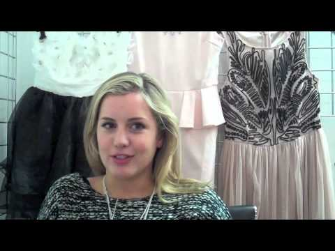 Reveal magazine chats to Caggie Dunlop as she models for Lipsy