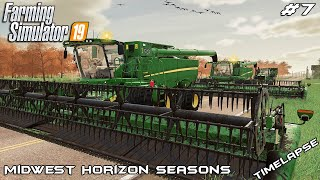 Harvesting so many acres of soybeans | Midwest Horizon Seasons | Farming Simulator 19 | Episode 7